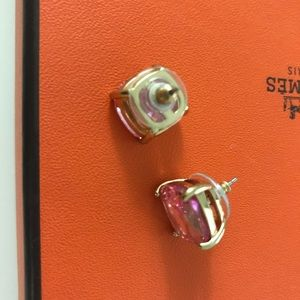 Kate spade earrings pink crystal stud